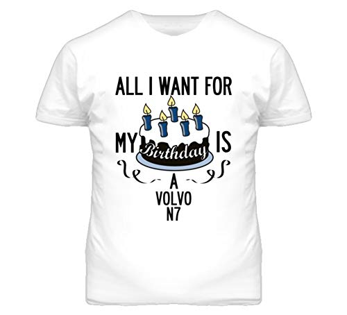 CarGeekTees.com All I Want for My Birthday is A Volvo for sale  Delivered anywhere in USA