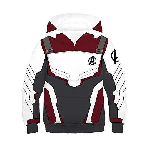 Genzn Kids Teens Pullover Sweatshirt Hooded Superhero 3D Hoody Quantum Hoodie, L White]()