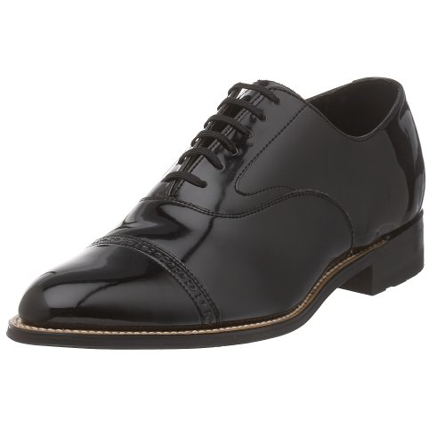 Stacy Adams Mens Concorde Oxford Black Patent