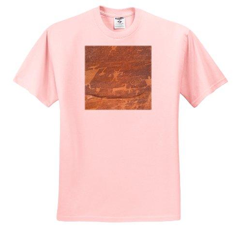 Danita Delimont - Petroglyphs - Utah, Moab, Canyonlands NP. Potash Road, petroglyphs - US45 TDR0012 - Trish Drury - T-Shirts - Youth Light-Pink-T-Shirt Med(10-12)
