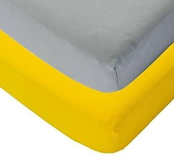 2pack 100 organic cotton super soft crib or toddler sheet set grey