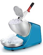 Lxn Trituradora de hielo eléctrica, máquina de afeitar hielo, máquina de cono de nieve, máquina de hielo raspada, 176 lbs/hr para uso doméstico y comercial, azul