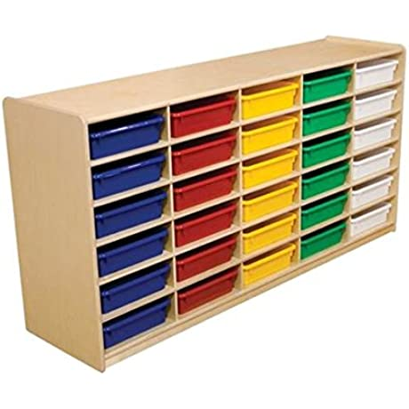 30 Letter Tray Storage Unit With 3 In Assorted Trays