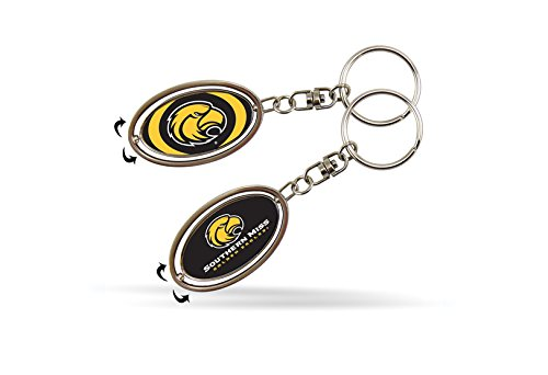 Rico Industries NCAA Southern Mississippi Golden Eagles Metal Spinner Keychain
