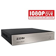 ZOSI 8CH Full 1080P High Definition Hybrid 4-in-1 HD TVI DVR Video Recorder CCTV Network Motion Detection For Surveillance Security Camera System Real Time Recording Mobile Phone Monitoring