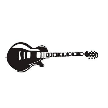 hzcl324 Guitarra Eléctrica Pared Pegatinas Silhouette Música ...