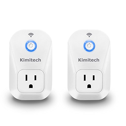 Kimit Smart Plug, Work with Alexa, no Hub Required, Control Appliances anywhere, Compatible with Both Apple and Android devices, 2 packs