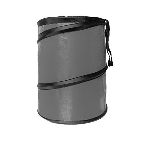 FH Group FH1120GRAY Gray Car Garbage Trash Can (Collapsible and Compact)
