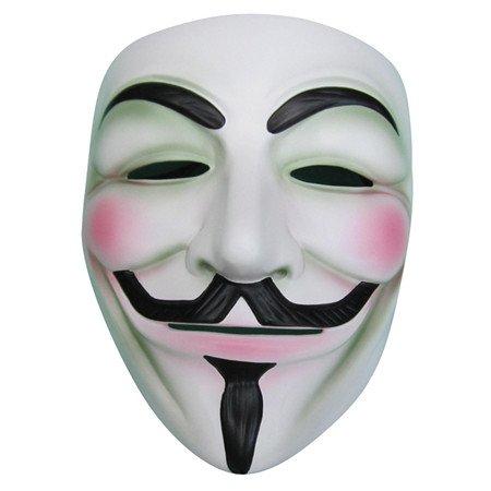 WAWO V de Vendetta - Máscara de color blanco