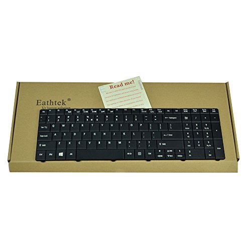 Eathtek Replacement Keyboard for Acer Aspire E1-521 E1-531 E1-531G E1-571 Travelmate P253-E P253-M 8571 8531 8572 5742Z 5744 5744Z series Black US Layout (Travelmate Acer Keyboard)
