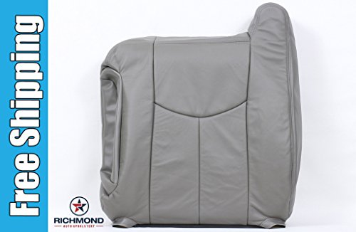 2004 GMC Sierra 2500HD 2500 HD SLT SLE Driver Side Lean Back Replacement Leather Seat Cover, Gray ()