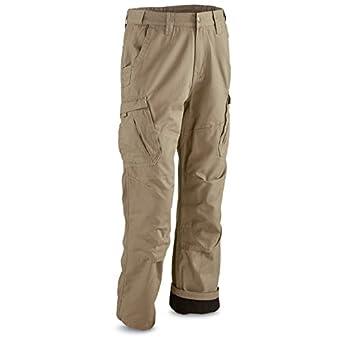 Amazon.com: Guide Gear Men's Fleece Lined Canvas Work Pants: Clothing