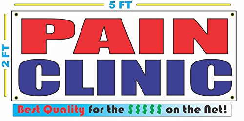 PAIN CLINIC Banner sign, used for sale  Delivered anywhere in Canada