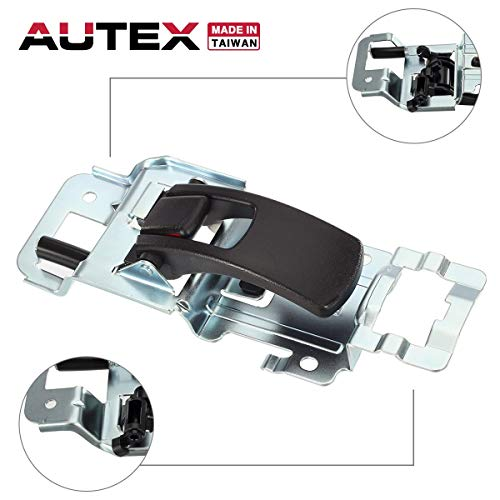 (AUTEX Right Passenger Black Interior Door Handle Front or Rear Compatible with 2005 2006 2007 2008 2009 Chevrolet Equinox 2006 2007 2008 2009 Pontiac Torrent 15926298, 25897972)