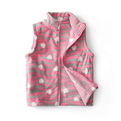 KIMJUN Baby Girls Fleece Vest Toddler Kid Zipper Sleeveless Jacket Coat Outerwear Rosered 100 by KIMJUN