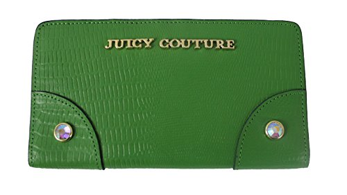 JUICY COUTURE CONTINENTAL LEATHER CLUTCH WALLET GREEN YSRUO234 (Juicy Couture Wallets For Women)