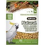 ZuPreem Natural Premium Daily Bird Food for Large Birds (Parrot) – 20 lbs., My Pet Supplies