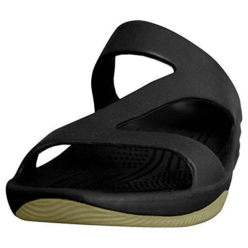 Dawgs Kvinna Premium Z Sandaler Svart / Tan