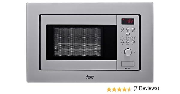 Teka ME 20 FI - Microondas incorporable con grill, 800 W, 20 l, color plateado