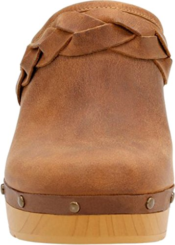 Clarks - Womens Ledella Meg Clog Light Tan Leather 0bgaV3rPln
