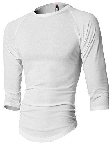 Cotton 3/4 Sleeve Baseball Shirt - 7