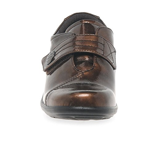 Padders Women's Simone Loafers Brown Patent 1buhykwmg