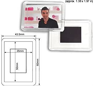Amazon.com: 50 Pcs of Blank Clear Acrylic Fridge Magnet ...