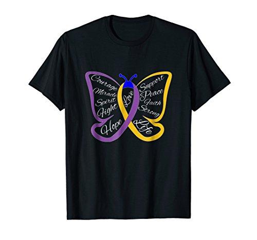 Fight Bladder Cancer Awareness Butterfly Shirt for Men Women