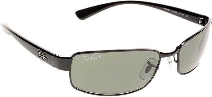 99da2bd0ce7 Ray-Ban 3364 002 58 Schwarz 3364 Rectangle Sunglasses Polarised Lens  Category 3 Size