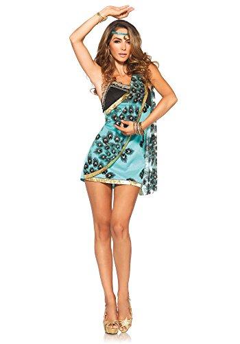 [Leg Avenue Women's 2 Piece Sari Siren Costume, Teal, Large] (Siren Costume Halloween)