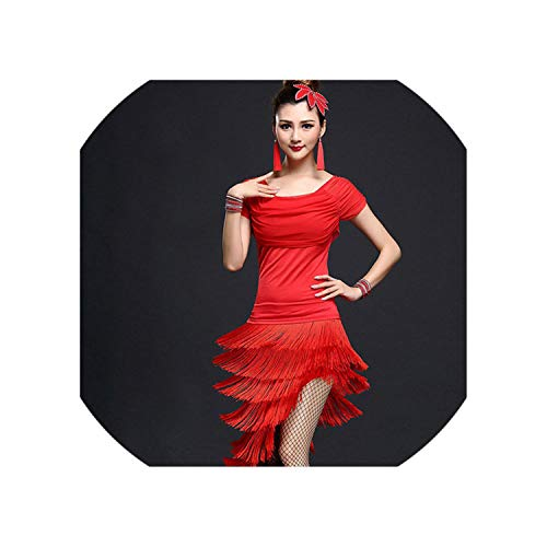 Womens Slim Tasseled Latin Dancewear Dance Costumes