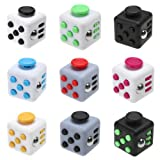 SHLA Fidget Release Rubik's Cube Desk Toy Anxiety Stress Relief for Children and Adults Gift - Free Zipper Case (Black)
