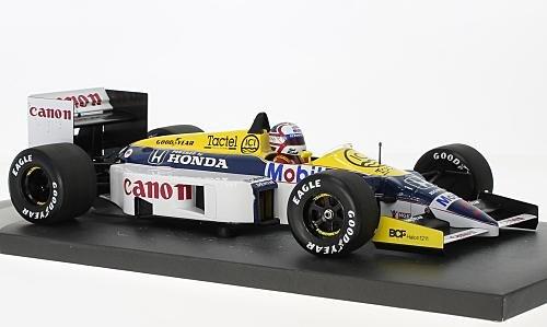 Williams Honda FW11, No.5, Canon, formula 1, 1986, Model Car, Ready-made, Minichamps 1:18 -
