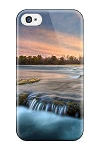 Excellent Design River Earth Nature River Phone Case For Iphone 4/4s Premium Tpu Case