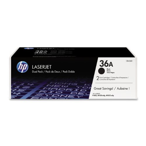 New Micr Printing Solutions (HP 36A (CB436A) Black Toner Cartridge, 2 Toner Cartridges (CB436D))
