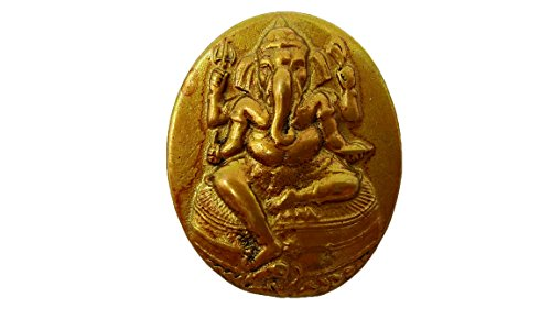 Mortal X Predator Kombat Costumes (Lord ganesh coin god of beginning success om shri ganeshaya brass antique with amulet)