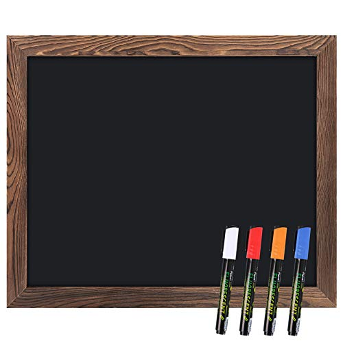 Artsy Crafts Magnetic Chalk Board with Rustic Wood Frame 18