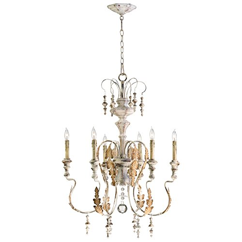 Cyan Design 04170 Motivo 6-Light Chandelier in Persian White Finish
