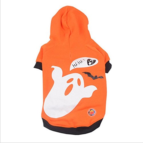 Dog Clothes,Laimeng, Pet Puppy Halloween Pumpkin Ghost Shaking LED Light Clothes (XL, Orange) (Pumpkin Outfit For Dogs)
