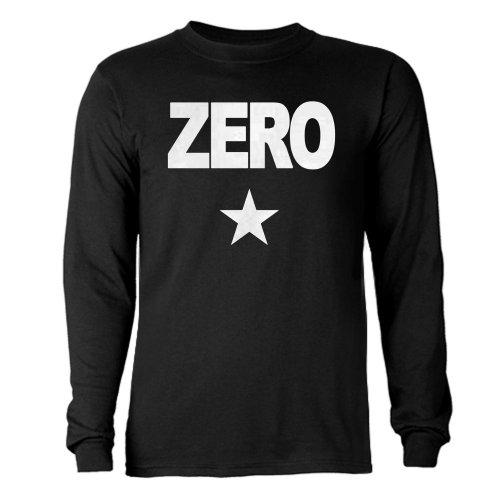 CafePress Zero Long Sleeve Dark T-Shirt - L Black