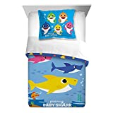 Baby Shark 2pc Twin/Full Reversible Comforter and Sham Bedding Set