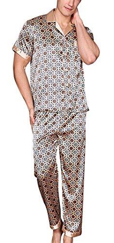 Bolawoo Mode Piezas De Beige2 Verano Dos Marca Dormir Ligera Casa Momma Pijama Corta Largo Los Ropa Baño Hombres Manga SSgfzwxrqR