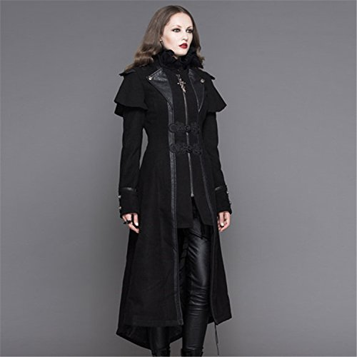 Jacket Devil Punk Slim Women Tailles Fashion 7 Gothic Fashion Long Coat Long qwaTgta