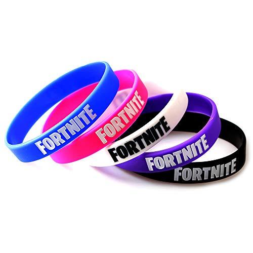FORTNITE Video Game Premium Bracelets Wristbands (5 Pack) - Multicolored Kids Pinata Party Favors