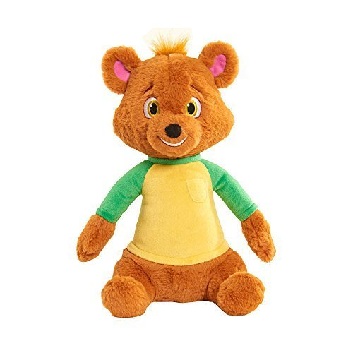 Disney Junior Goldie and Bear Talking Bear Plush Brown Press To hear Him Sing Iconic ''Just Right'' by Just Play