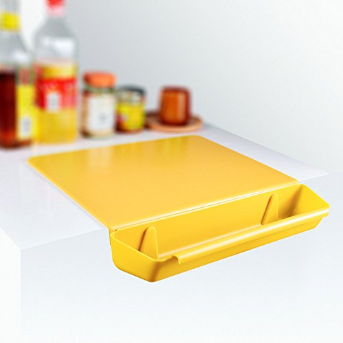 Chopping Board with Storage Box/Creative Drawer Type Design / 4 Colors for Choice (Yellow) (Best Type Of Cutting Board)
