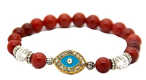 Red Agate Blue Crystal Turkish Evil Eye Bracelets Hamsa Jewelry