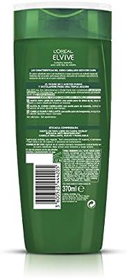 LOréal Paris Elvive Champú Elvive Phytoclear Anticaspa 370 ml - Cuero cabelludo sensible - [pack de 3]: Amazon.es: Belleza