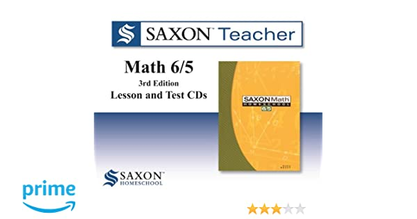 Counting Number worksheets math and money worksheets : Saxon Math 6/5 Homeschool: Saxon Teacher CD ROM 3rd Edition: SAXON ...