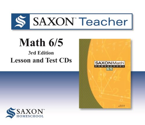 Saxon Math 6/5 Homeschool: Saxon Teacher CD ROM 3rd Edition